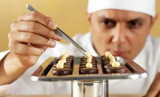 Homemade chocolate factory using real cocoa