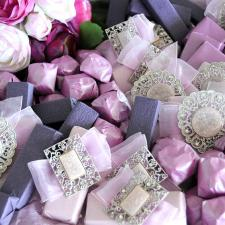 Chocolate decoration for Wedding purple theme