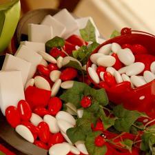 Newborn chocolate decoration ladybug theme red