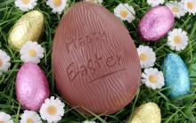 Easter chocolate decoration: chocolate eggs