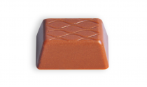 Milk chocolate with pieces of almonds